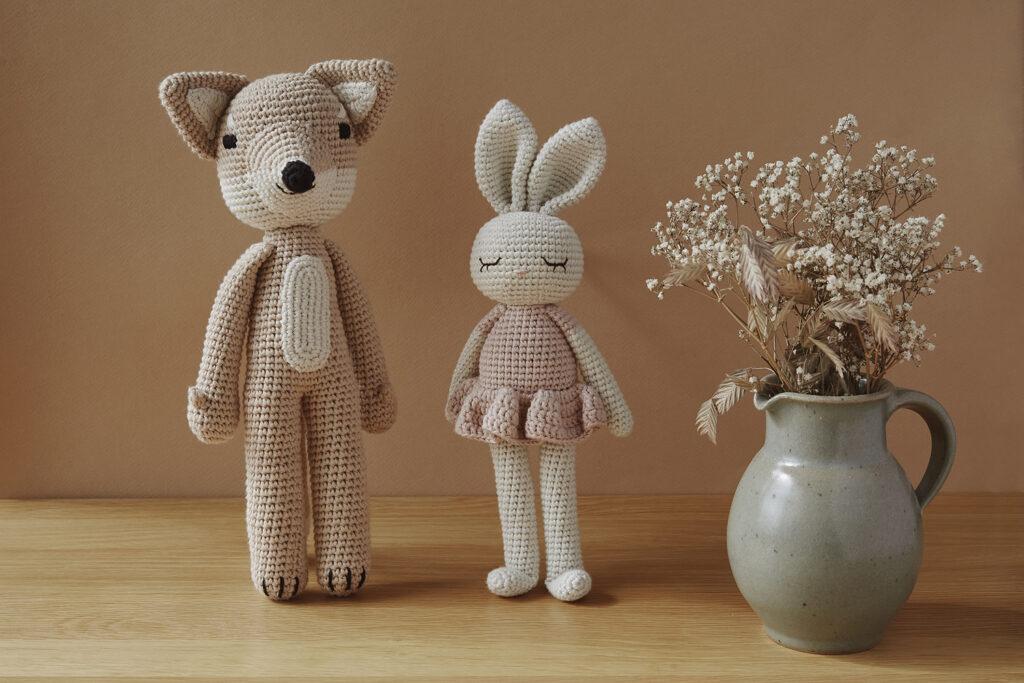 Doudou en crochet renard beige Patti Oslo