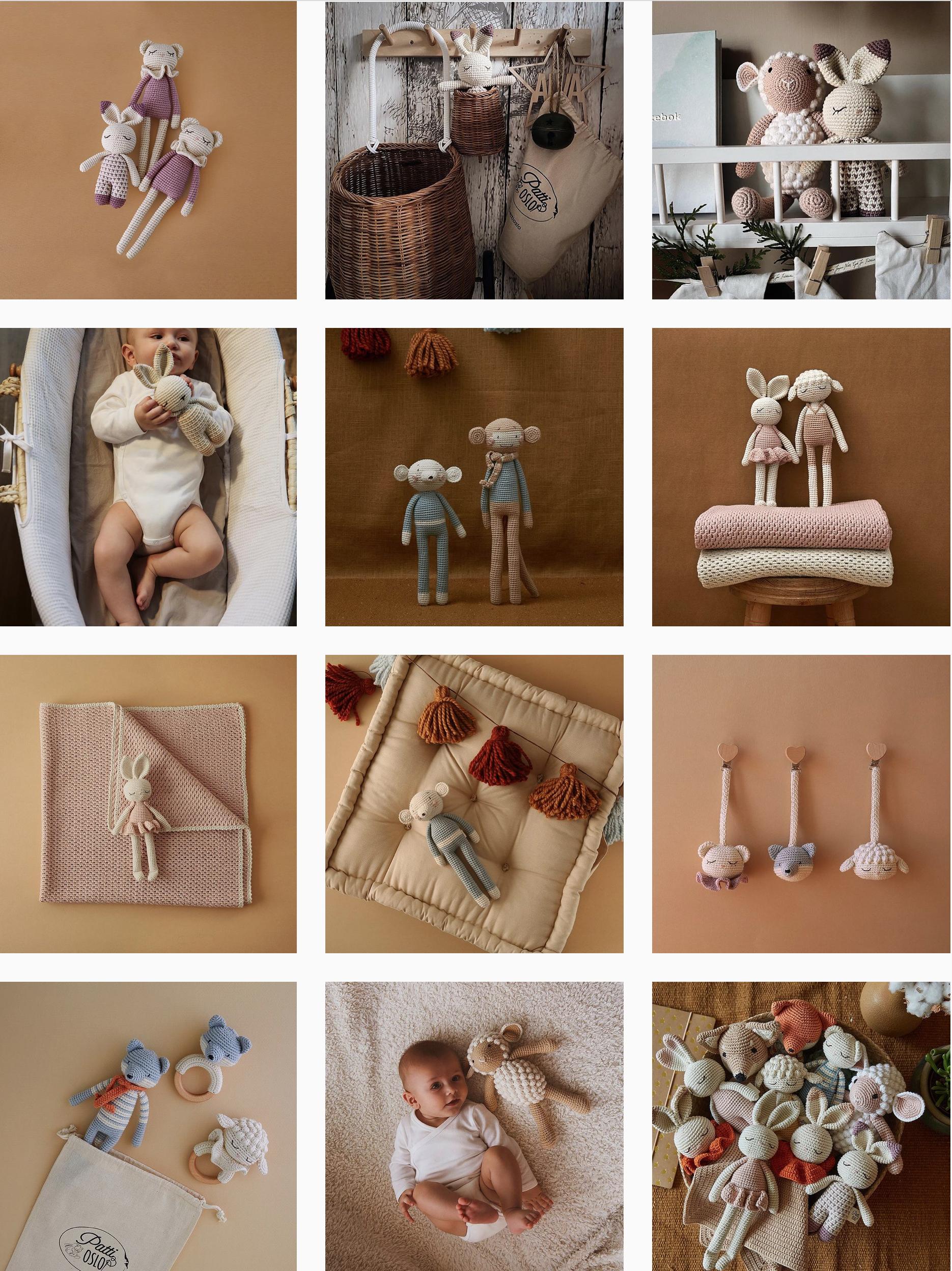 jouets et doudous en crochet Patti oslo