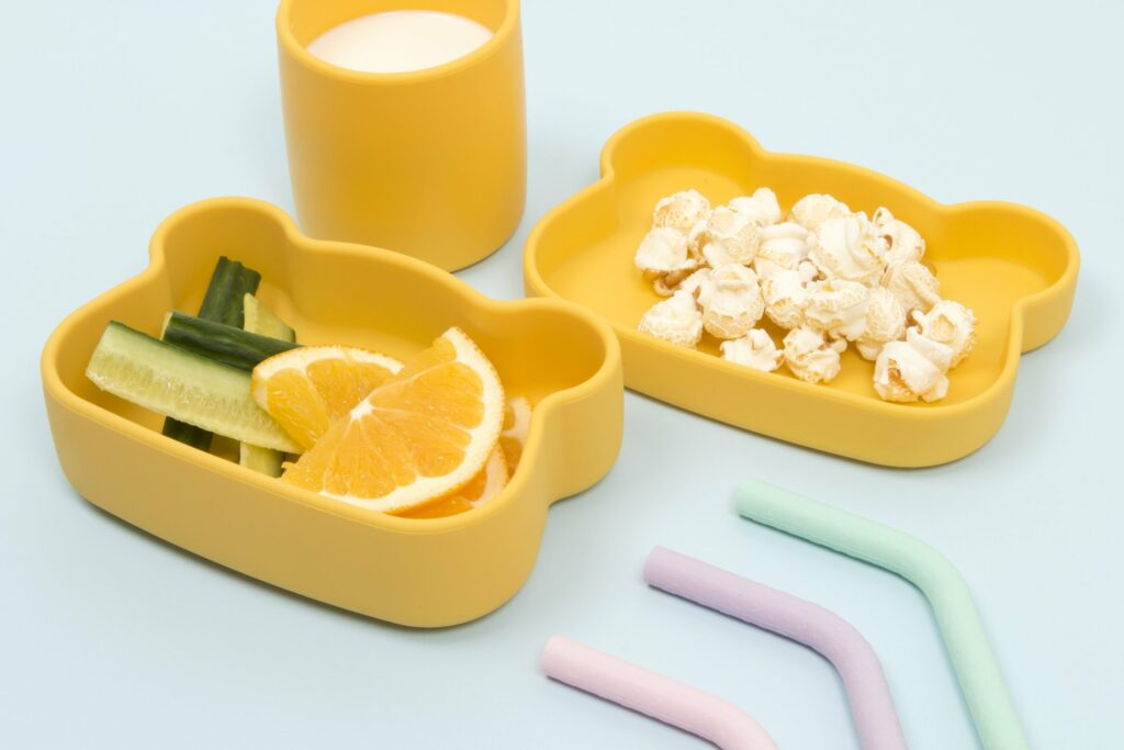 Boite a gouter en silicone ours jaune We might be tiny